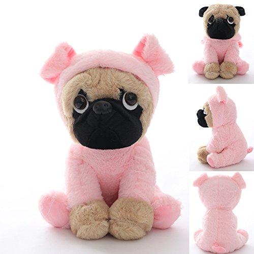 Stuffed Pug Dog Puppy Soft Cuddly Animal Toy in Costumes - Super Cute Quality Teddy Plush 10 Inch (Pig) Pig Cuddly Animal