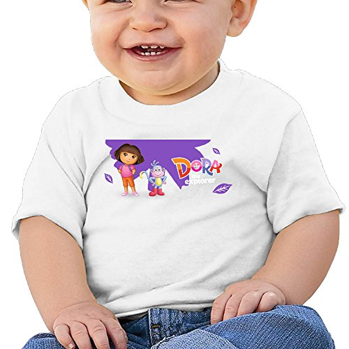 Price comparison product image Boss-Seller Dora The Explorer Short-Sleeve T-srhits For 6-24 Months Toddler Size 24 Months White