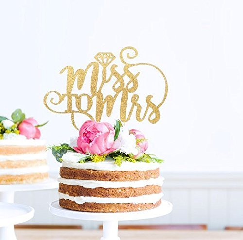 miss to mrs cake topper bridal shower topper bride to be miss to