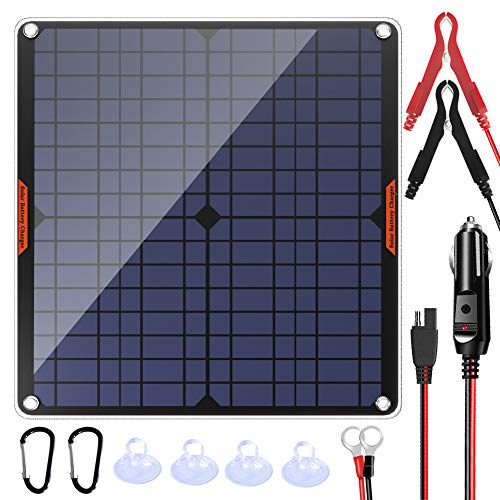POWISER 20W 12V Solar Panel Car Battery Charger Portable Waterproof Power