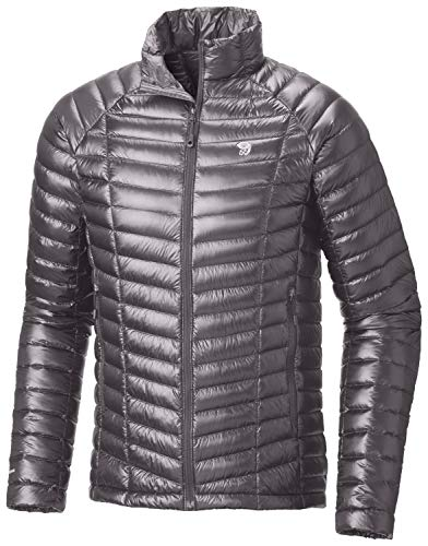 (Mountain Hardwear Mens Ghost Whisperer Insulated Down Water Repellent Jacket, Non-Hooded - Manta Grey -)