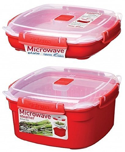 Check Out This Sistema Medium Microwave Steamer - Assorted Colors (Steamer & Plate Set)