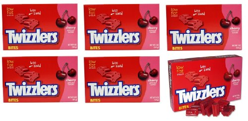 Cheap Twizzlers Cherry Flavor Classic Bites, 5-Ounce Boxes(Pack of 6)