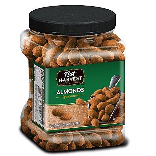Nut Harvest Lightly Roasted Almonds, 36 Ounce Jar