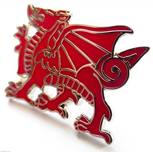 Wales Welsh Dragon Cut Out Enamel and Metal Pin Badge (Enamel Cut Out)