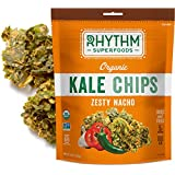 Rhythm Superfoods Kale Chips, Zesty Nacho, Organic and Non-GMO, 2 Oz (Pack of 4), Vegan/Gluten-Free Superfood Snacks