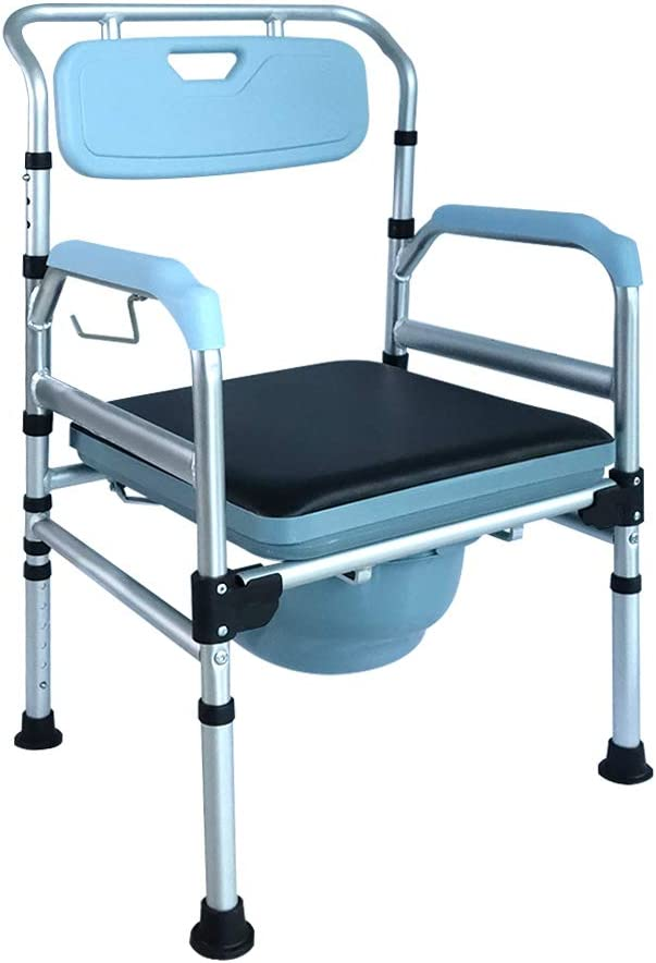HENGMEI Silla de ducha y de WC inodoro placa de asiento Respaldo ergonómico