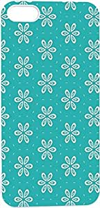blue flower floral pattern Hard Unique Designer Slim Pattern Thin Protective Shockproof Drop Proof Cover Protector Case for Apple Iphone 5 5G 5S