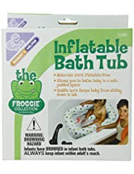 Mommy\'s Helper Inflatable Bath Tub Froggie Collection, White...