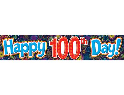 Teacher Created Resources Fireworks Happy 100th Day Banner