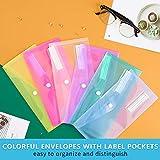 24 Pack Plastic Pencil Pouch, Sooez Clear Poly