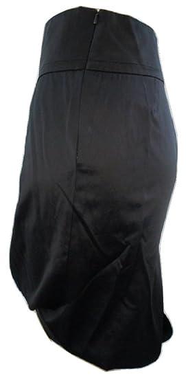 French Connection Jet Negro Shimmer - Lápiz Falda Negro Negro ...