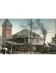 Boston and Maine Railroad Station Lowell, Massachusetts Original Vintage Postcard