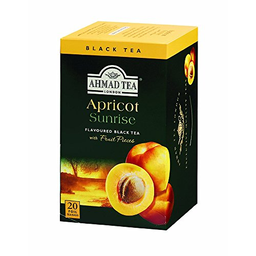 Ahmad Tea Apricot Sunrise Black Tea, 20 Tea Bags Boxes (Pack of 6)