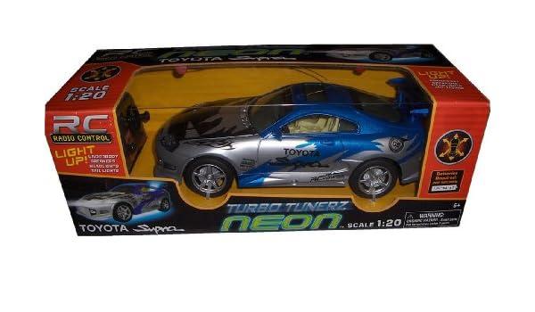 RC Turbo Tunerz Neon Toyota Supra 1:20 Radio Control Car, including Radio Remote: Amazon.es: Juguetes y juegos