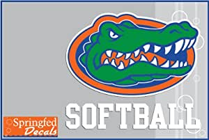 Amazon Com Florida Gators Softball W Gator Head Logo 2