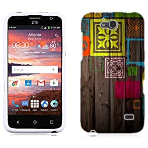 for ZTE Fanfare Paint on Wood Phone Cover Case