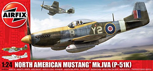 Airfix A14003 1:24 Scale North American P-51K/ RF Mustang Military Aircraft Classic Kit Series 14