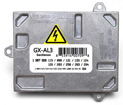 Replacement Xenon HID Ballast for Cadillac DTS, Audi A4 S4, Saab 9-7x, Volvo Headlight Control Unit Module Replaces 307 329 115, 307 329 098