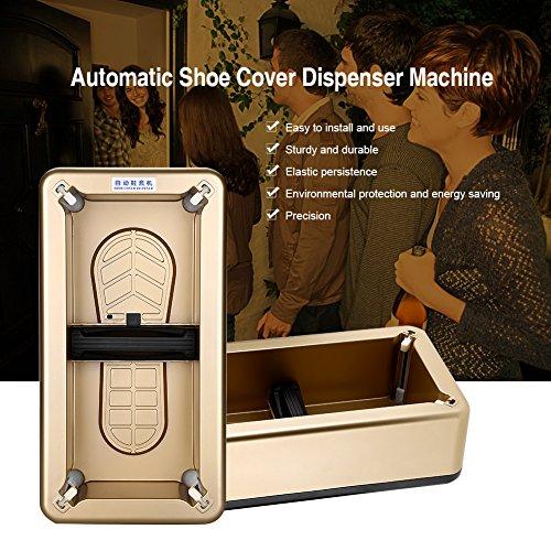 Máquina antideslizante reutilizable del dispensador de la cubierta del zapato Manos libres de las cubiertas de los zapatos...