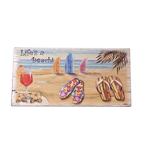 """Wooden Sandal Das Leben ist ein Strand-Zeichen 16 """""""