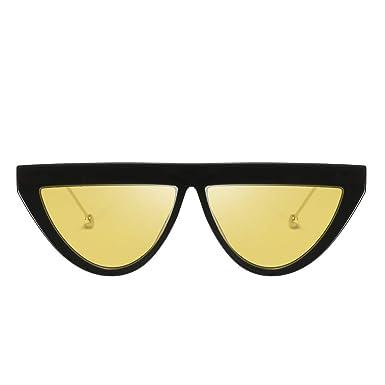 HCFKJ Moda Hombre Mujer Forma Costuras Gafas De Sol Gafas ...
