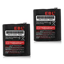 EBL 3.6V 700mAh Two-Way Radio Rechargeable Battery for Motorola 53615 m53615 KEBT-071-A KEBT-071-B KEBT-071-C KEBT-071-D Talkabout 5950 T4800 T4900 T5000 T5800 T9500R FV500 Series HKNN4002A HKNN4002B Ni-MH 2 Pack