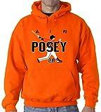 "The Silo ORANGE Buster Posey San Francisco ""AIR HR"" Hooded Sweatshirt"
