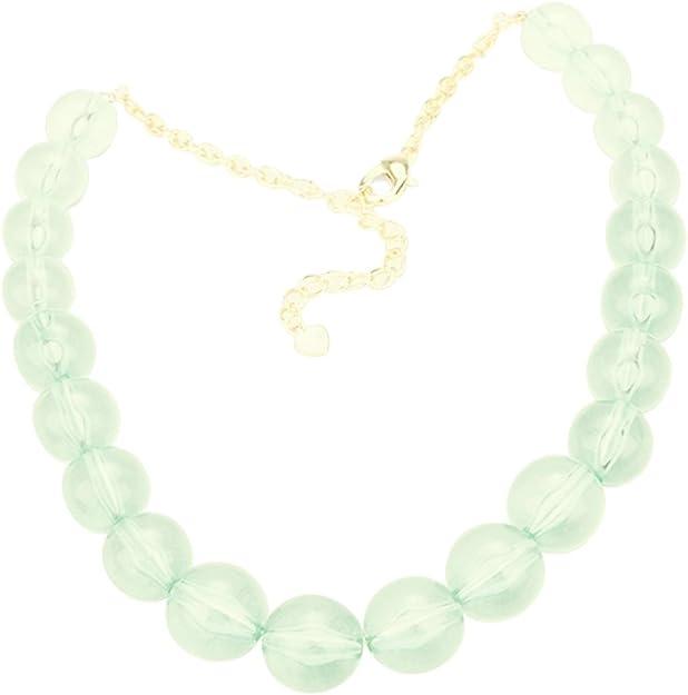 big  green beads green  statement jewelry Chunky aquamarine necklace,multi strand statement tee green necklace beaded seafoam necklace