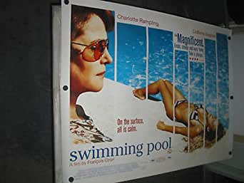 Swimming Pool Orig Brit Quad Movie Poster Charlotte Rampling Francois Ozon At Amazon 39 S