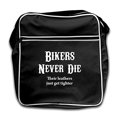red Flight Die Black Retro Bikers Bag Never qwPOxx8tX
