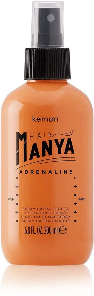 Kemon Hair Manya Adrenaline - Hair Spray for Extra Strong Hold Professional Salon Quality Styling Product - 200ml