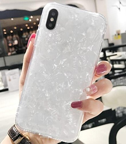 iPhone X Case - Sequins Epoxy Glitter Shell Soft TPU Bumper Drop Protection Cases Cover For Apple iPhone X (Glitter Basic)