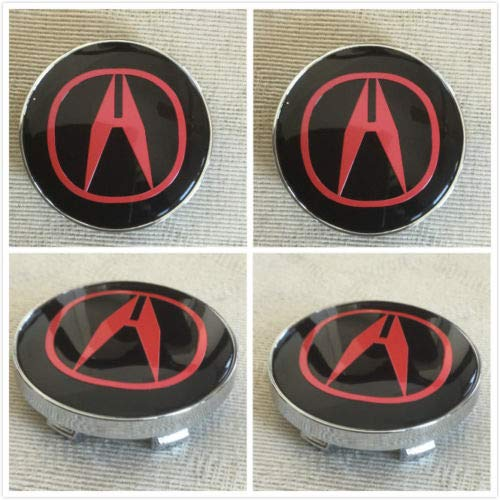 llfaith 4X Fit New Acura Red TSX TL Wheel Center Hub Caps 60 mm -