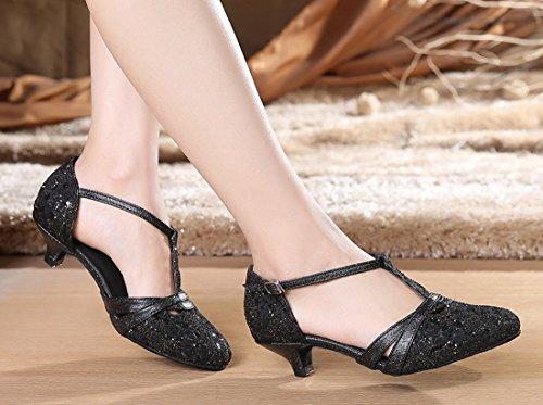 TDA - Sandalias con cuña mujer 3.5cm Heel Black