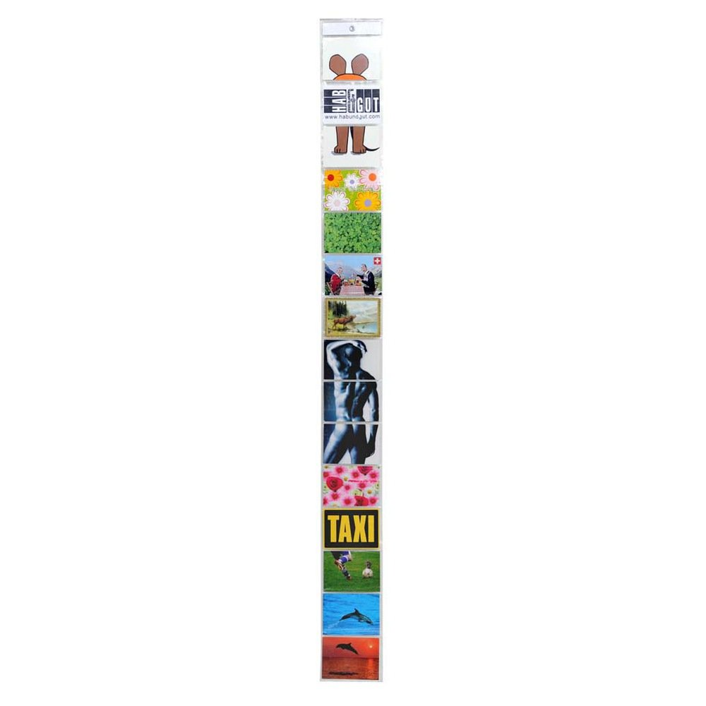 HAB & GUT -DV006- Cortina portafotos para 15 Fotos, Postales y carátulas de CD, 171/16 cm, Formato oblongo