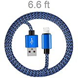iPhone Charger Cable, VANTEN (6ft)[Lightning Cable][iPhone Charging Cable][iOS Cable][Charging Cord/Connector]for iPhone 7/7 Plus/6S /6 Plus/6S/6/SE/5S/5C/5, iPad4/iPad Air, iPad Mini(iOS, 1Pack)