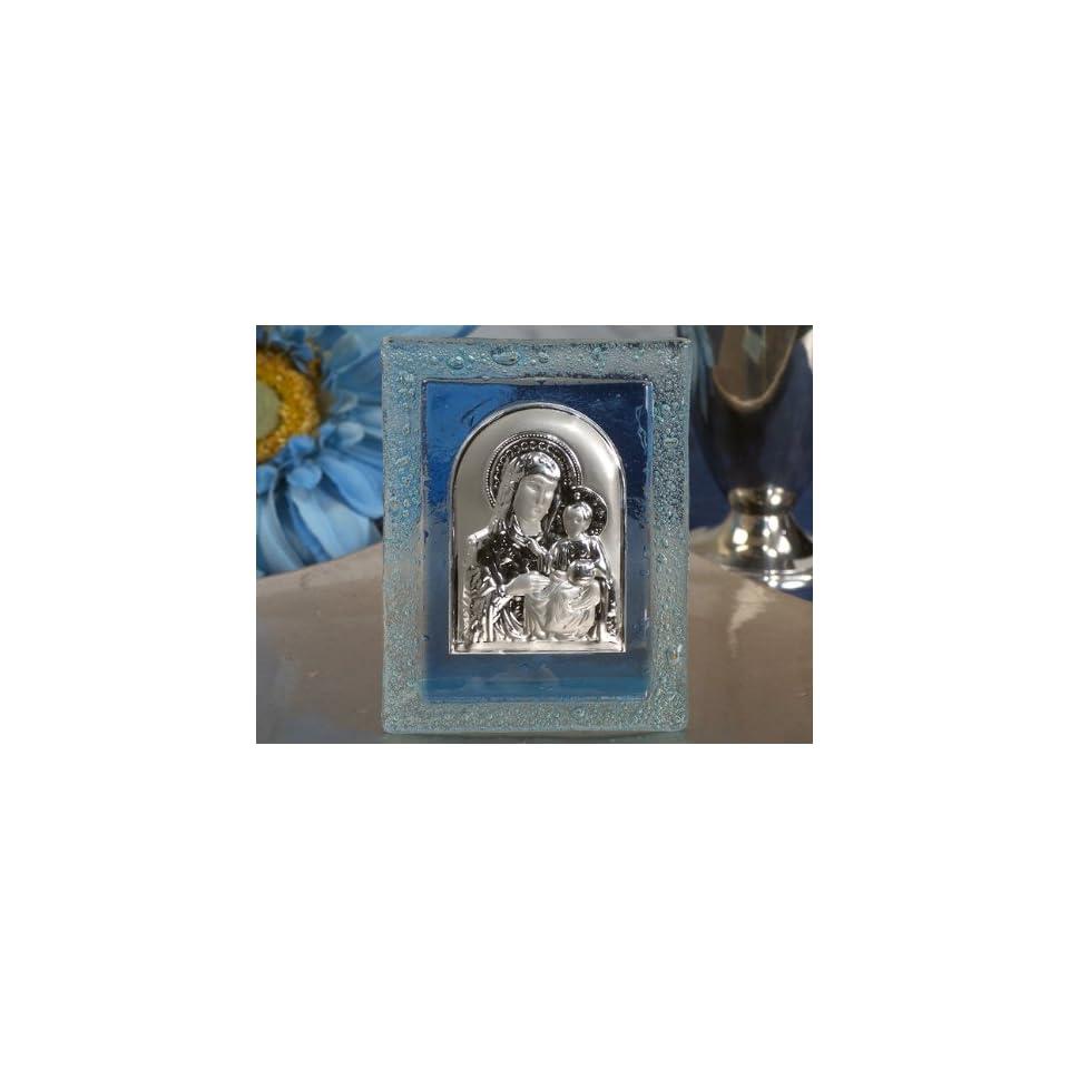 Murano art deco blue glass icon