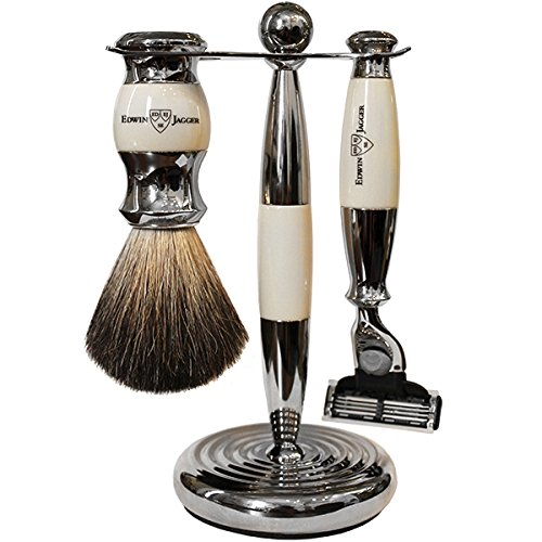 Edwin Jagger 3 Piece Shaving Set Mach3 - Ivory by Edwin Jagger