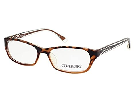 2619bb5cf7d7 Amazon.com: Cover Girl CG0510 Eyeglass Frames - Dark Havana Frame ...