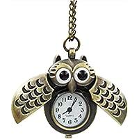 aloiness Metal Owl Llavero Reloj Llavero Bolsa Bolsillo de Coche Ornamentos Colgantes para Mujeres Hombres Recuerdo…