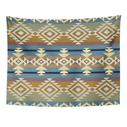 Breezat Tapestry Aztec Navajo Inspired Geometric Pattern American Home Decor Wall Hanging for Living Room Bedroom Dorm 60x80 Inches