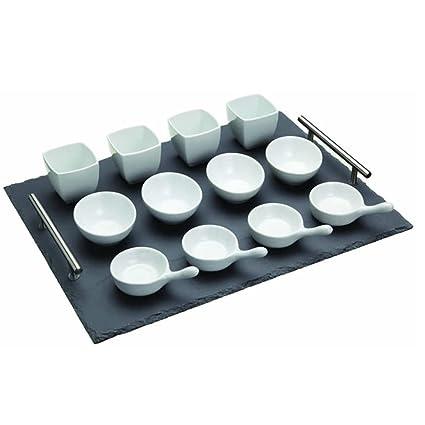 Kitchen Craft Little Treasures - Juego de bandeja y recipientes para aperitivos (13 piezas)