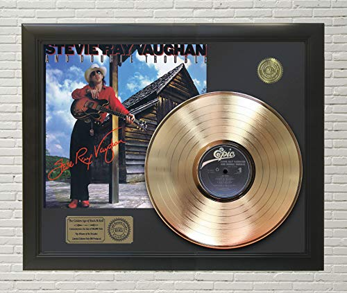 (STEVIE RAY VAUGHAN - SOUL TO SOUL FRAMED GOLD LP REPRODUCTION SIGNATURE DISPLAY