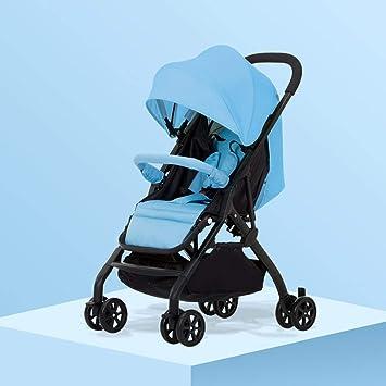 Opinión sobre ZYC-WF Bicicletas para Niños, Niños Cochecitos para Bebés Cochecitos Ultraligeros Los Cochecitos Plegables Pueden Sentarse con Los Carros de Los Niños Reclinados (Negro) (Azul) (Gris) (Verde) (Rosa)