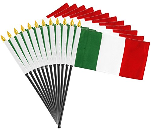 - 12 pack of 4x6 Inch Italian Flags (12 Pack)