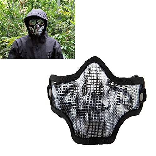 Steel mesh metal mask half face skull mask outdoor riding field chiefs color (Ebay Indian Costumes)