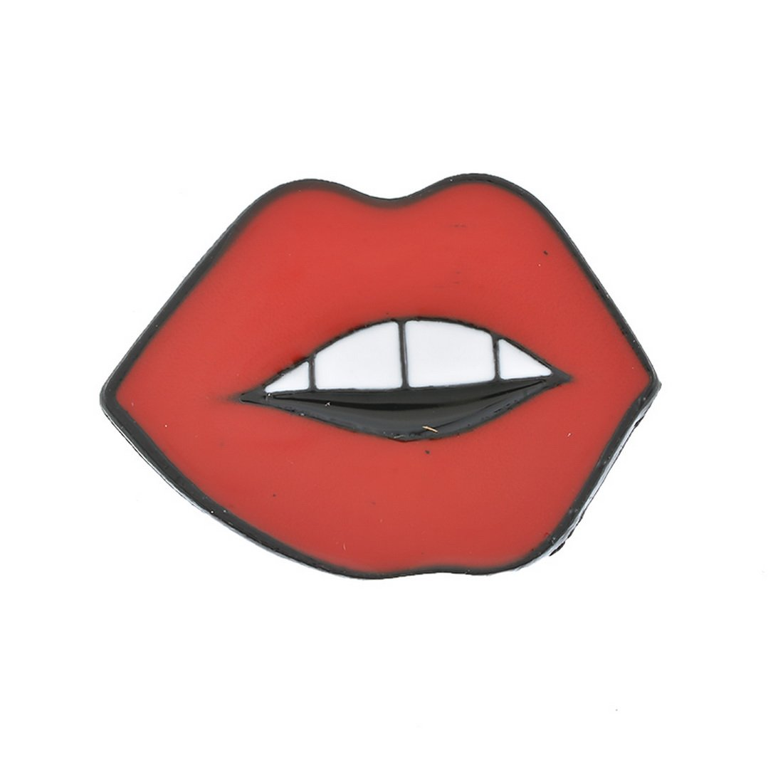 Souarts Womens Red Lip Shaped Enamel Brooch Pin Badge for Clothes Bags Backpacks Lapel Pin Hellocrafts