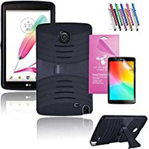 """LG G Pad 2 8.0 /G Pad F 8.0 Case, EpicGadget(TM) Heavy Duty Hybrid Case Protector Cover with Kickstand For LG Gpad 2 8.0"""" / Gpad F 8.0""""+ Screen Protector and 1 Stylus (Black/Black)"""