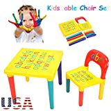 GOTOTOP Activity Kids Table and Chair Set Furniture Toddler Child Toy Play Home Gifts US